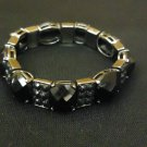 Designer Fashion Bracelet Chain/Link Plastic Metal Adult Black/Silver