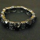 Designer Fashion Bracelet Chain/Link Plastic Metal Adult Black/Silver