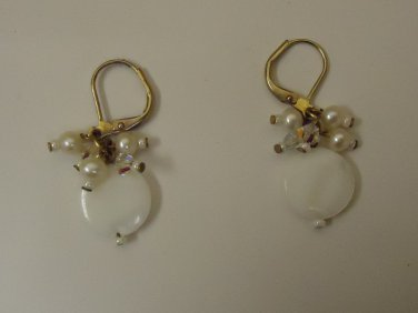 Designer Fashion Earrings Drop/Dangle Metal Female Adult Metallics/Whites