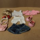 Build A Bear Workshop Dress Up Doll Clothing Multi-Color 9 Pieces Cotton Nylon
