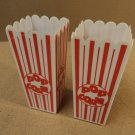 Name Brand Popcorn Holders White/Red Set of 2 Plastic