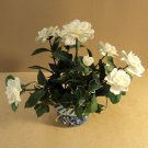 Handcrafted Rose Flower Arrangement In Pot Ceramic