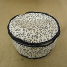 Cover Ups Dish Case 9in Diameter x 5in H White/Blue Floral Plastic