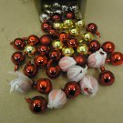 Standard Lot of 48 Ornament Balls 2in Diameter Red/Gold/Silver