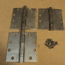 Bommer Hinges Heavy Duty 1 7/8in W x 4 1/2in L Silver Set Of 3 4-Hole Metal