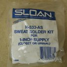 Sloan Sweat Solder Kit Chrome For 1in Supply Closet or Urinal H 533 AS