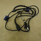 Standard DVI Cable & Power Cord Black/Blue Power Cord 6ft DVI 5ft