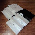 Standard 2-Inch 3 Ring Binders Lot of 7 White Vinyl