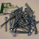 Standard Carriage Bolts 1/4 x 2 1/2-in Course Thread 34 Count 240030 Zinc Steel
