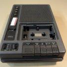 Eiki Cassette Tape Player Portable Black 120VAC 60Hz 10W 9VDC 3270A