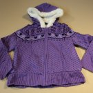 Faded Glory Girls' Zipper Sweater Hooded Female Kids Medium 7-8 Purples
