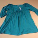 Planet Motherhood Top Blouse Female Adult Large 12/14 Greens Solid