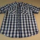 Faded Glory Shirt Button Down Collar Male Kids XL 14-16 Blues Plaids & Checks