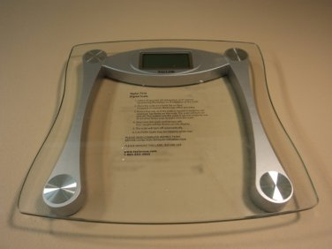 Taylor Digital Scale Bathroom Style Clear/Silver 440LB Capacity 7516 Glass