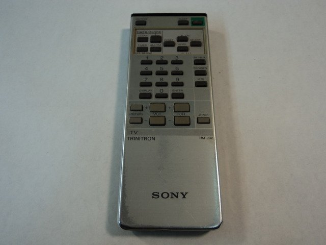 Sony Remote Controller Trinitron TV Gray RM-732 Vintage