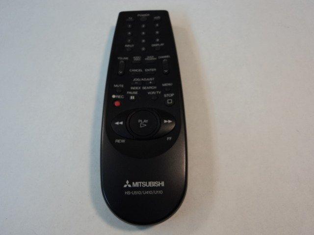 Mitsubishi Remote Controller TV VCR Black HS-U510 U410 U110 Vintage