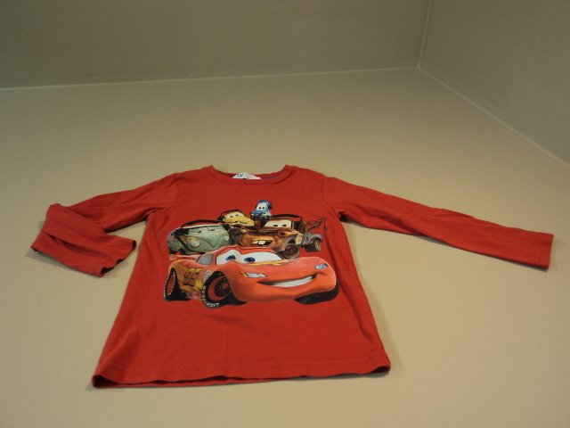 HM H&M Boys T-Shirt Cars Cars Lighting McQueen 100% Cotton 4-6Y