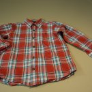 Childrens Place Boys Button Down Shirt 100% Cotton 4T Reds Plaids & Checks