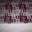 NEW  TEXAS AGGIES PILLOWCASE MONOGRAMED GREAT FOR GIFTS