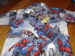 NEW OOAK BOY'S SPIDERMAN SHIRT SIZE 6,7,& 8