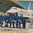 Enterprise Astronauts hand signed autographed Photo Haise, Truly, Fullerton, Engle COA UACC