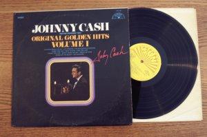 Johnny Cash autographed Hand Signed Golden Hits Vol 1 LP COA UACC