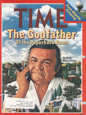 Godfather Author Mario Puzo Hand signed Autographed Time Magazine Cover Aug 1978 UACC