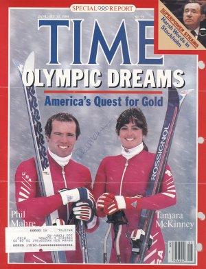 Phil Mahre Champion Skier Hand signed Autographerd Time Magazine Cover UACC