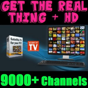 HD TV SOFTWARE 9000+ Satellite Channels! box dish lnb