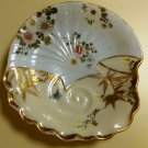 UNUSUAL AND BEAUTIFUL ORIENTAL HAND PAINTED (OYSTER?) DISH