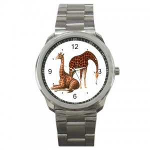 Giraffe Pair Sport Metal Watch