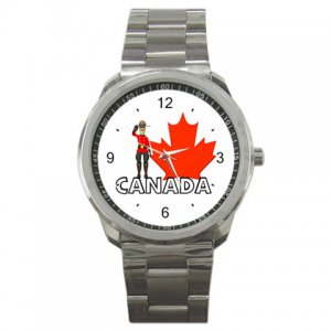 Canada Pride Red Leaf Sport Metal Watch