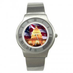 USA Capital Hill Washington DC Stainless Steel Watch