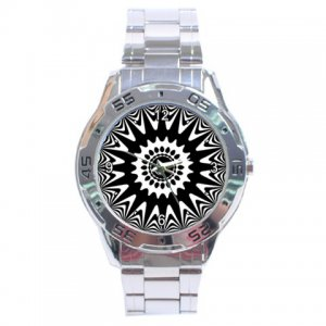 Creative Pattern 021b Stainless Steel Analogue Men&acirc;s Watch
