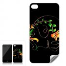 Flower Fractal Art Design Apple iPhone 4 Skin