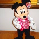 NEW WT HUGE DISNEY MICKEY MOUSE VALENTINE HEART STUFFED ANIMAL