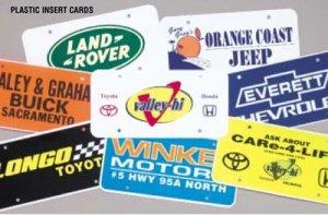 Plastic Insert Cards