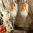 Set of 2 Personalized Champagne glasses Wedding valse