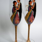 Wedding Toasting Flutes Set of 2 Personalized Champagne glasses Indian wedding