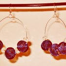Basketball Wives inspired earrings Royal Blue mesh and clear Rondelle beads