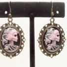 Lolita SKELETON Cameo EARRINGS Day Of The Dead Gothic Lady Skulls