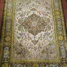 4x5'7''  semi antique SİLK persian carpet rug