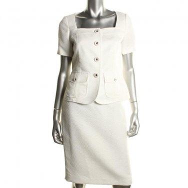 Women's Spring Summer Suit Le Suit SALE White Textured Size 14-16