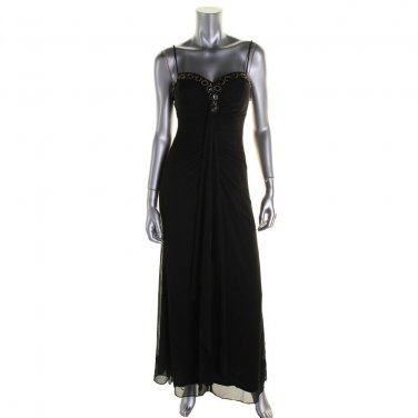 Onyx Nite  SALE Black Evening Gown Prom Dress NWT