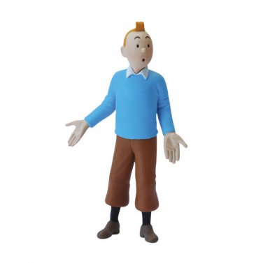 TINTIN IN HIS BLUE SWEATER PVC FIGURINE  NEW COLLECTION