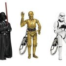 Set of 3 PVC Key rings Darth Vader, C-3PO and Stormtrooper Star Wars