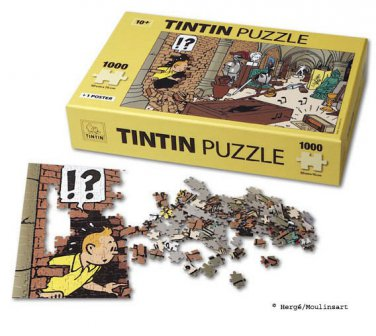 TINTIN PUZZLE  Treasures of the castle (1000 pieces) + 1 poster