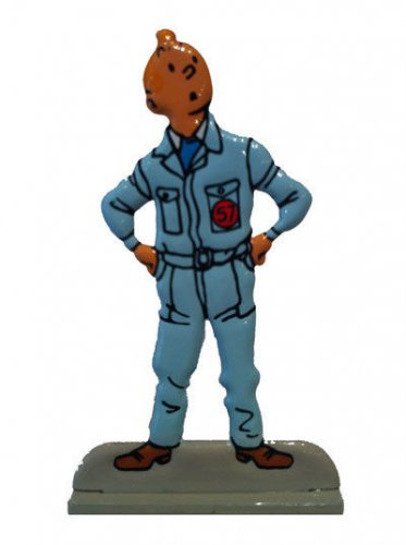 TINTIN METAL FIGURINE FROM DESTINATION MOON NEW