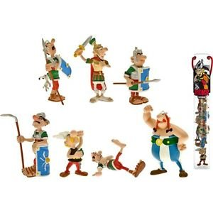 Figurine Tubo Asterix fight with 7 Mini-figurines set Plastoy
