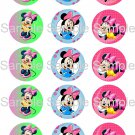 "Lot of 15 Minnie Mouse (Set.16) PRECUT 1"" Photo Paper Bottle Cap Images"